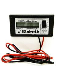 ИЗМЕРИТЕЛЬ ЕМКОСТИ И ESR электролитических конденсаторов ESR-micro v4.1s IZI (простой) принцип работы тот же что.
