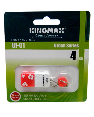 флэш диски USB  KINGMAX  4Gb Ul-01 Red