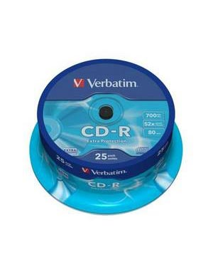 Verbatim CD-R (52x) Extra Protection 25шт. Шпиндель